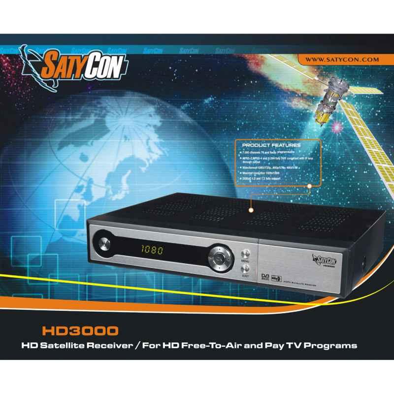 RECEPTOR SATELITE SATYCON HD3000 + ANTENA 100CM