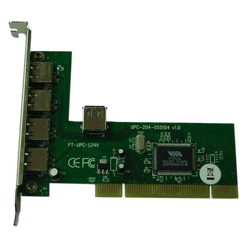 TARJETA PCI 4+1 PUERTOS USB 2.0 SATYCON