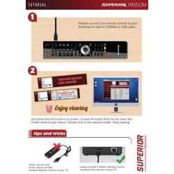 MANDO TV PROGRAMABLE USB SUPERIOR FREEDOM 4 EN 1