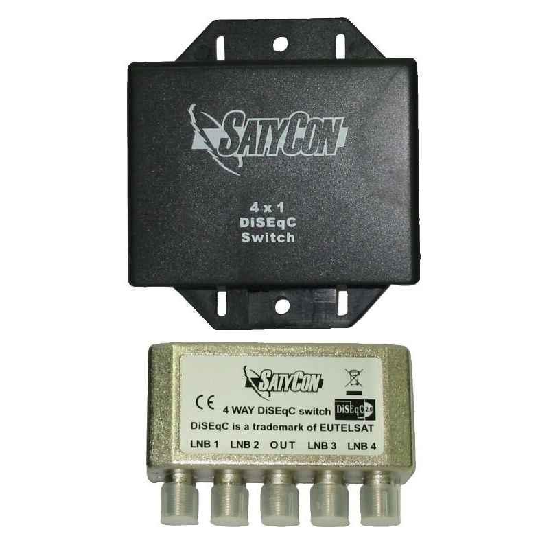 CONMUTADOR DISEQC 4X1 (2.0) SATYCON