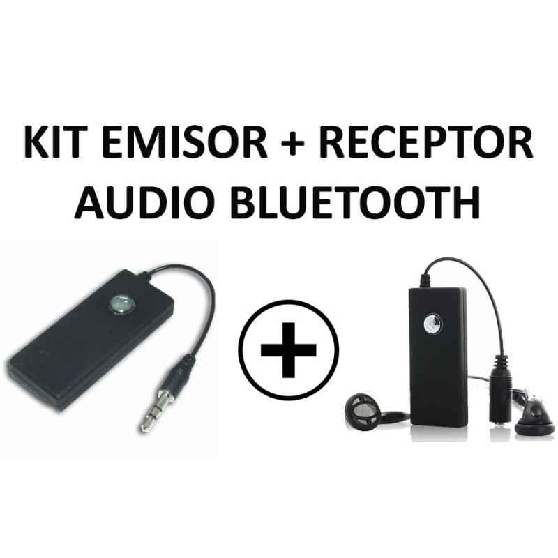 "KIT EMISOR Y RECEPTOR AUDIO BLUETOOTH JACK 3.5"""