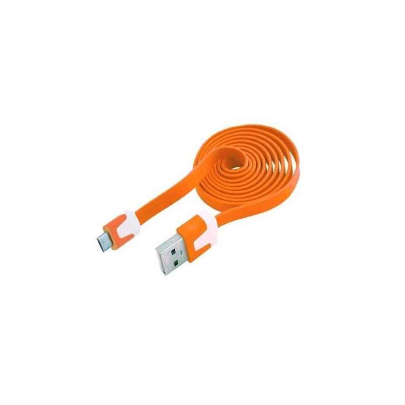 CABLE DATOS Y CARGA USB A MICRO USB 1M NARAN PLANO