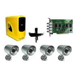 PC VIDEOVIGILANCIA 4 CAMARAS P41100 + 4 CAM 15IR