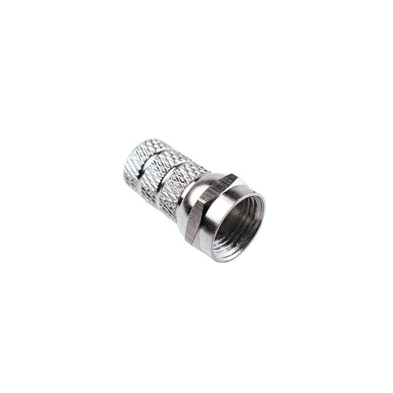 CONECTOR F GRANDE PARA CABLE 0.55MM A 0.7MM