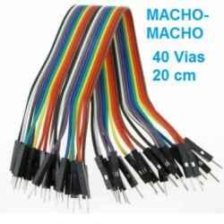 ARDUINO - CABLE DUPONT 40 VIAS 20CM MACHO-MACHO