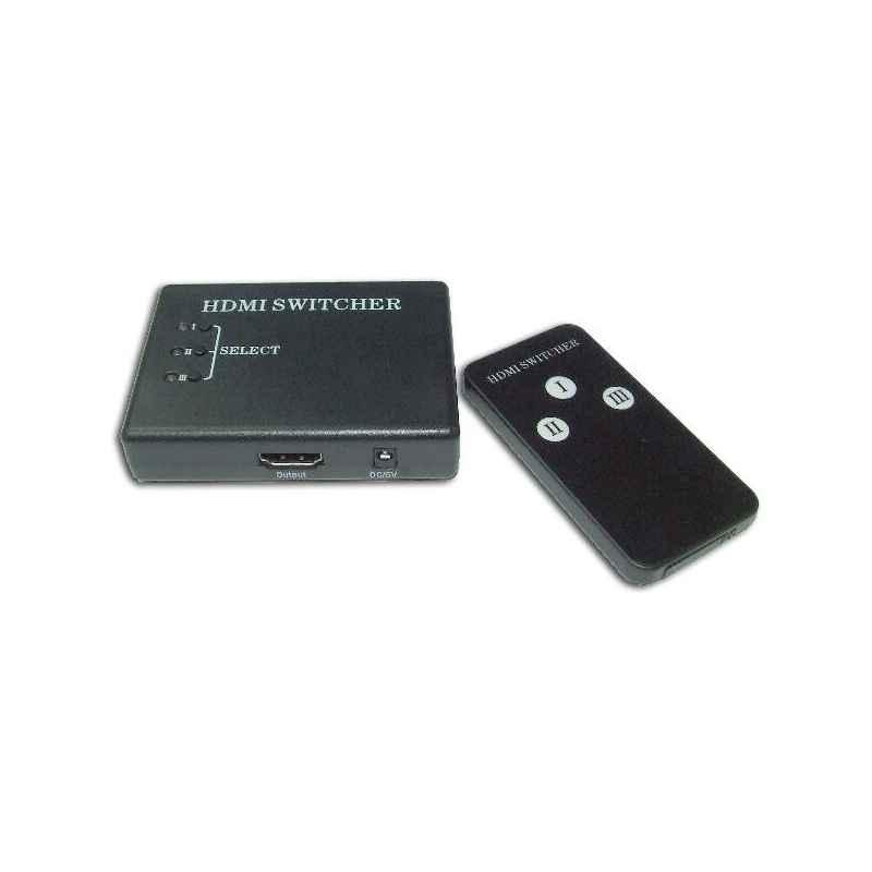 CONMUTADOR HDMI 3 ENTRADAS 1 SALIDA CON M/D