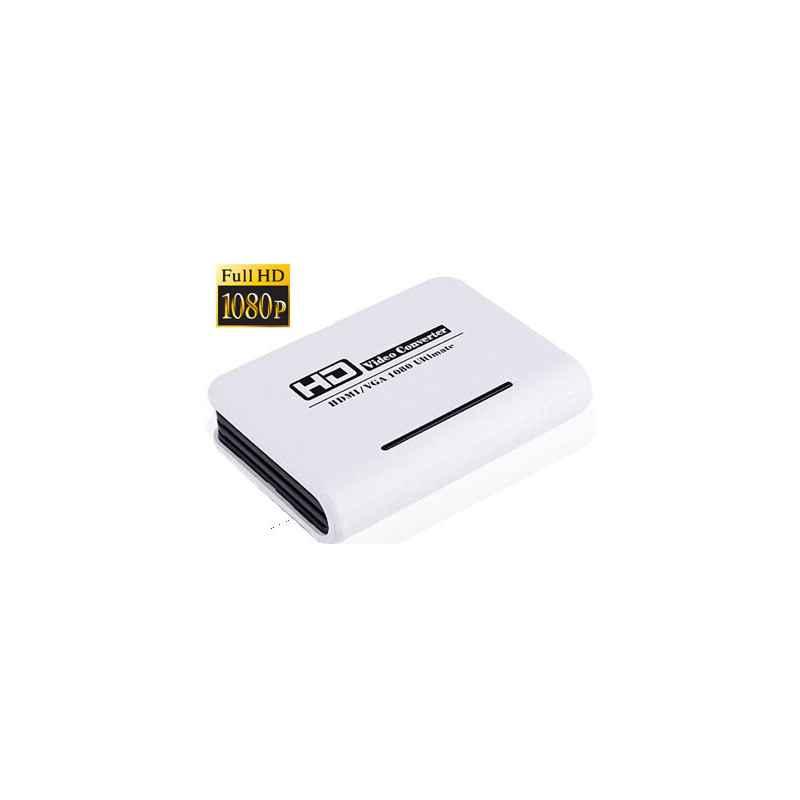 ADAPTADOR CONVERSOR HDMI A VGA+AUDIO SATYCON