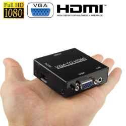 MINI ADAPTADOR CONVERSOR HDMI A VGA+AUDIO  SATYCON