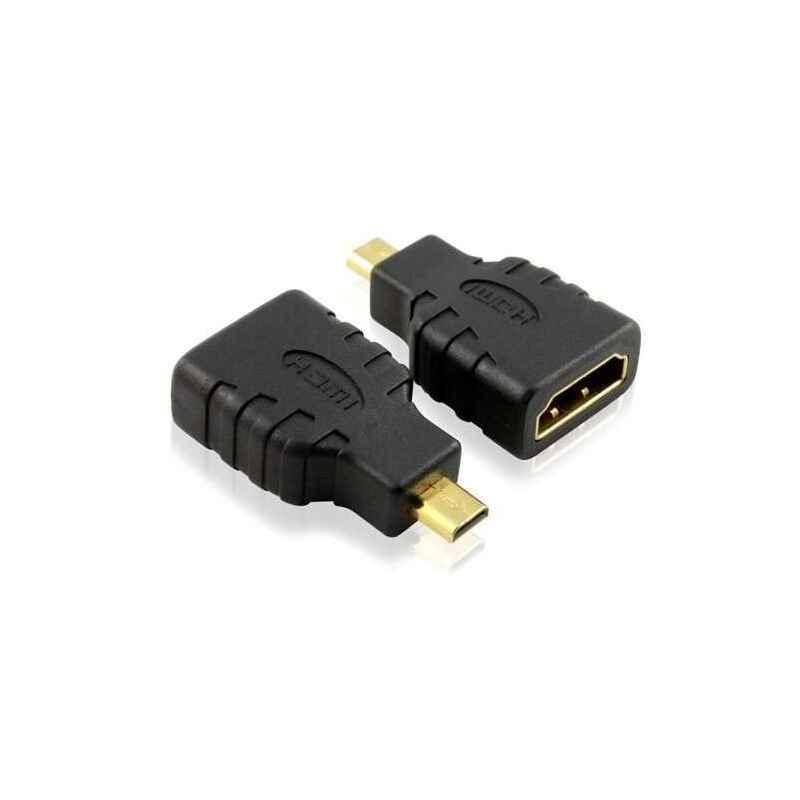 ADAPTADOR MICRO HDMI MACHO A HDMI HEMBRA V1.4
