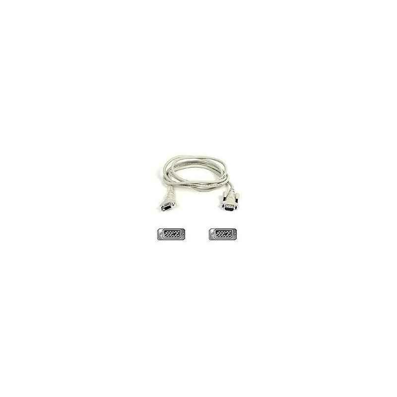 CABLE VGA+ DB15 MACHO-MACHO 5M BLANCO