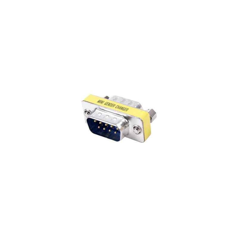 ADAPTADOR SERIE RS232 DB9 MACHO-MACHO COMPACTO