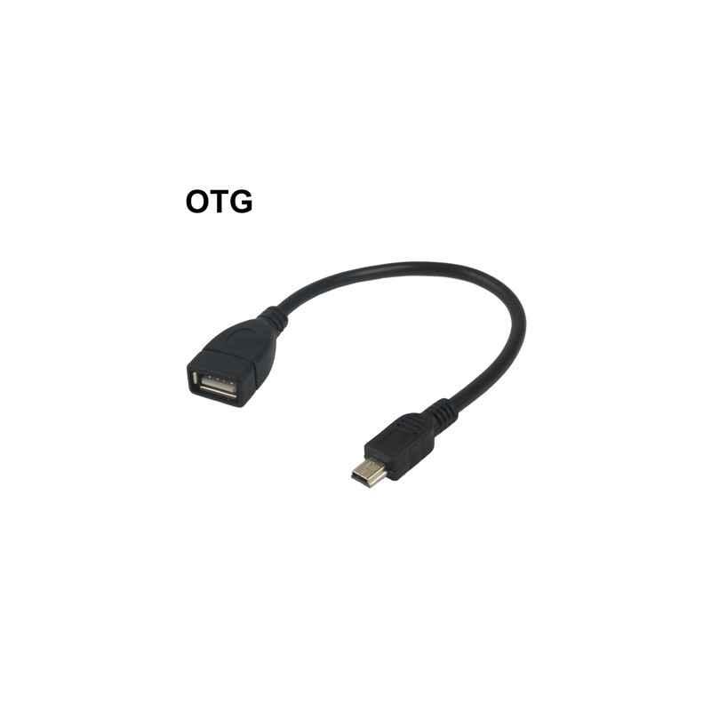 CABLE USB 0.2M AH HEMBRA A MINI USB 5P MACHO OTG