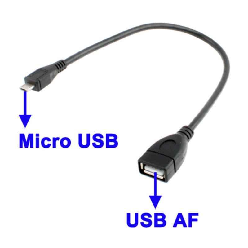 CABLE USB AH HEMBRA A MICRO USB 5P MACHO OTG