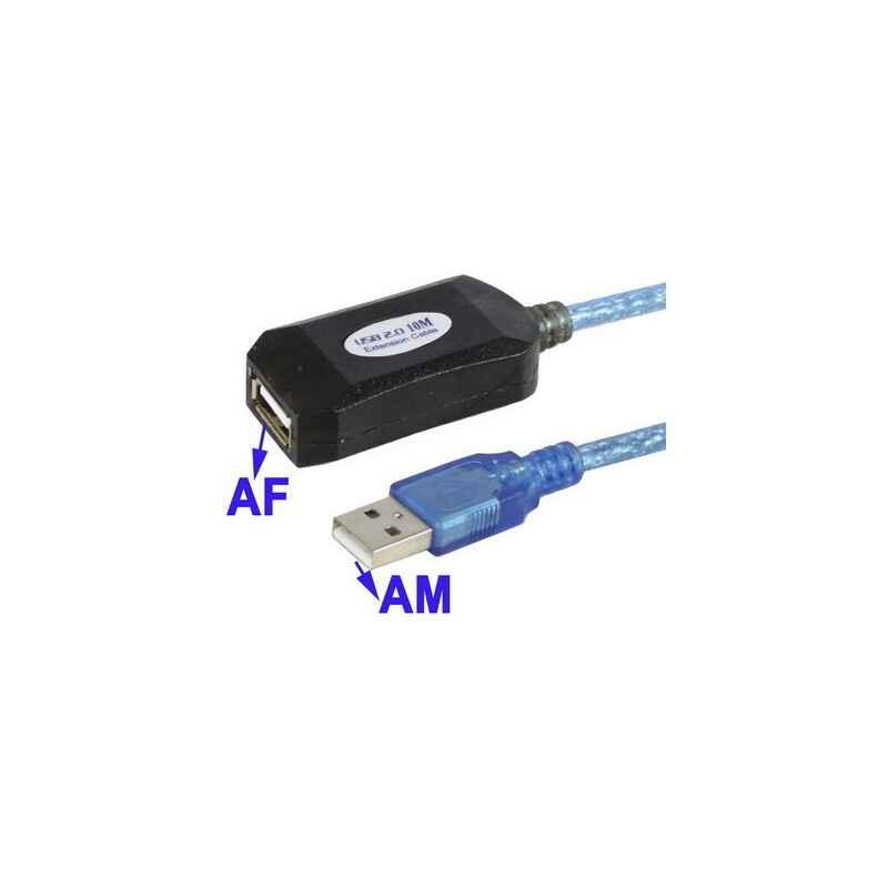 CABLE ALARGADOR USB 2.0 ACTIVO 10M SATYCON