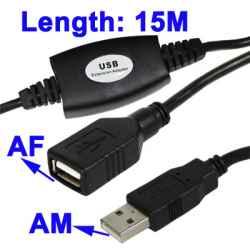 CABLE ALARGADOR USB 2.0 ACTIVO 15M SATYCON