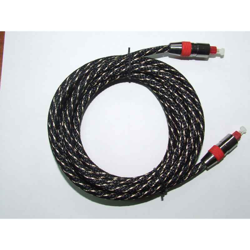 CABLE FIBRA OPTICA TOSLINK 3M ~ 5.0MM PROFESIONAL
