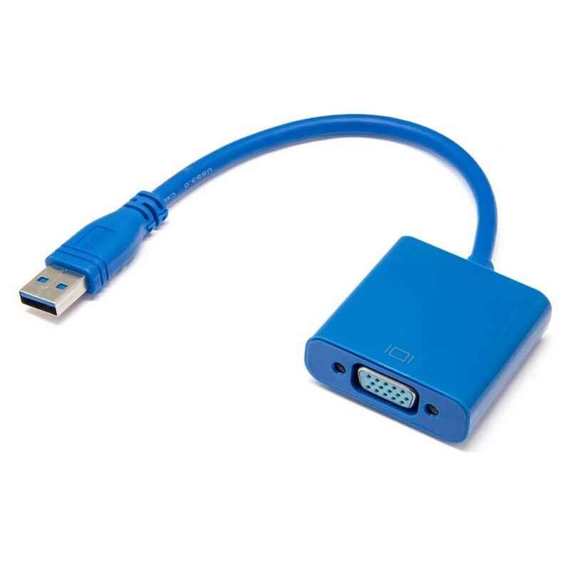 ADAPTADOR USB 3.0 MACHO A VGA HEMBRA FULL HD 1080P