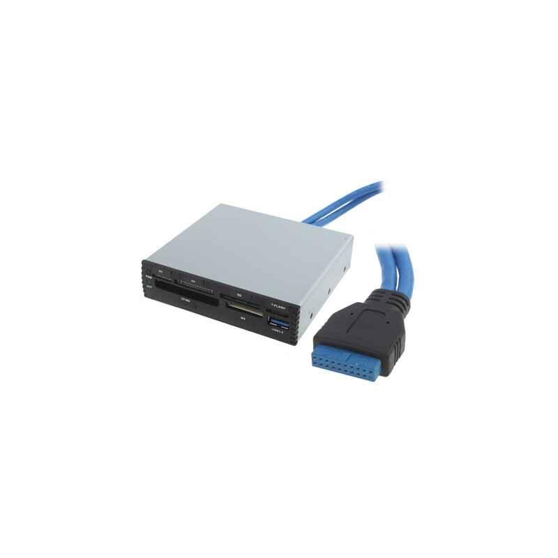LECTOR MULTITARJETAS INTERNO SATYCON USB 3.0 NEGRO