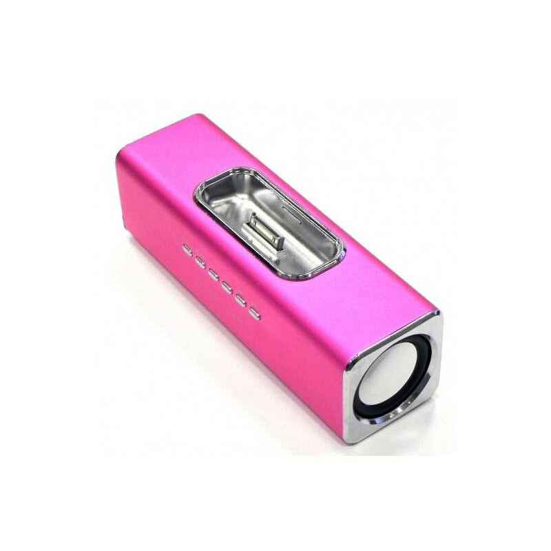 ALTAVOCES MP3 CUBE3 ROSA IPHONE + CARGADOR  400MA