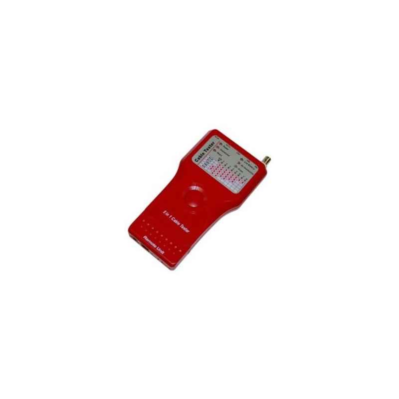 COMPROBADOR TESTER RED RJ45 RJ11 USB BNC 1394 ROJO