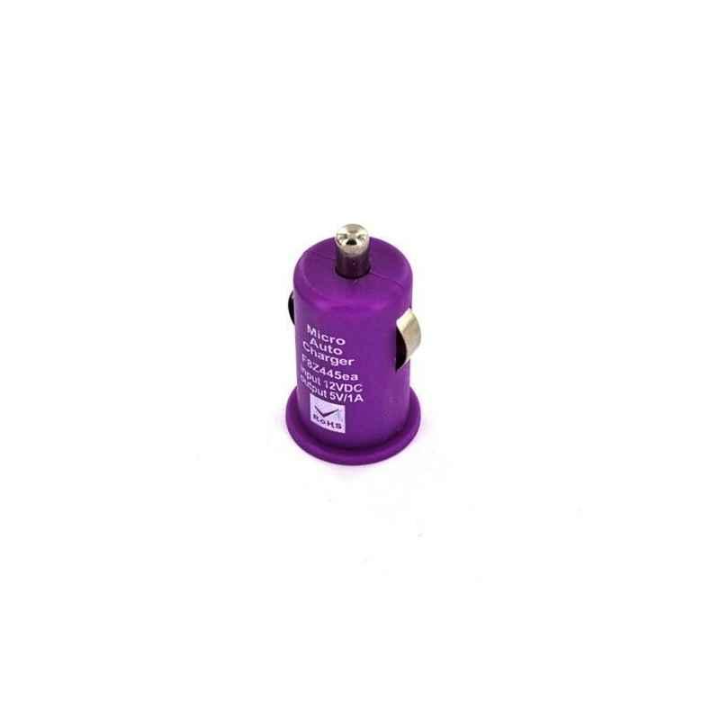 CARGADOR MECHERO COCHE USB IPAD IPHONE 5V 1A MOR