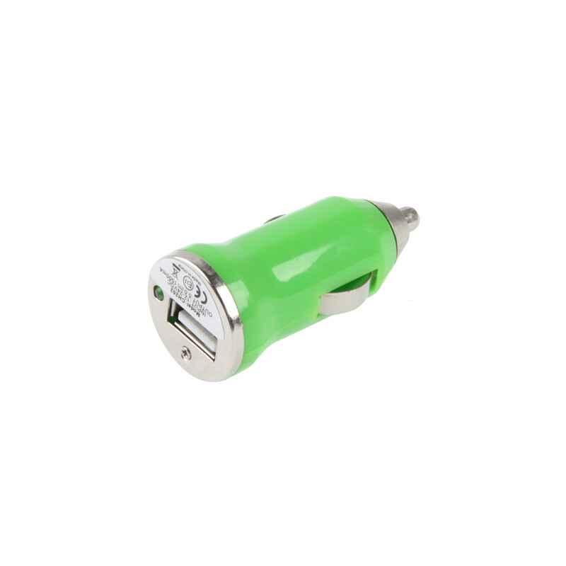 CARGADOR MECHERO COCHE USB IPAD IPHONE 5V 1A VERDE